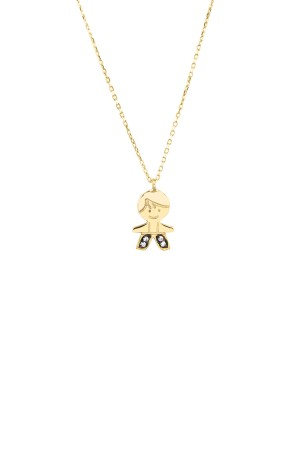 PETITE FAMILY - PEPE PRINCE - Boy Pendant Necklace with CZ