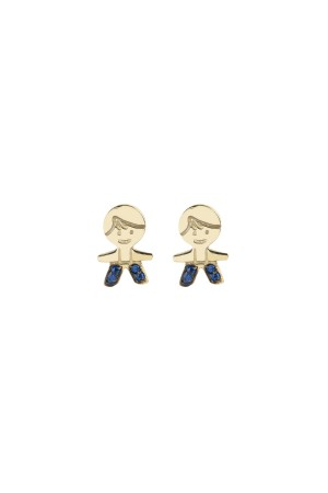 PETITE FAMILY - PEPE THE BLUE - Minimal Stud Earrings