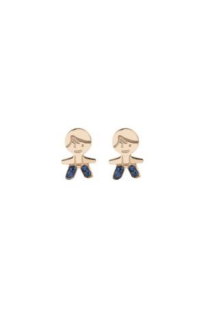 PETITE FAMILY - PEPE THE BLUE - Minimal Stud Earrings (1)