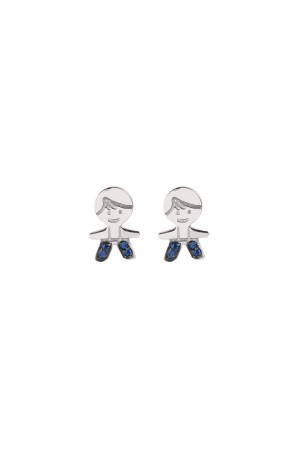 PEPE THE BLUE - Minimal Stud Earrings - Thumbnail