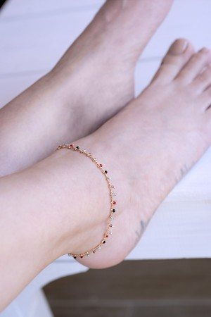 PLAYGROUND - PHI PHI - Multicolor Beaded Anklet (1)