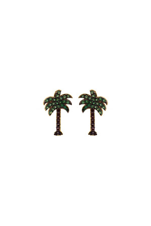 PHOENIX - CZ Palm Tree Studs - Thumbnail