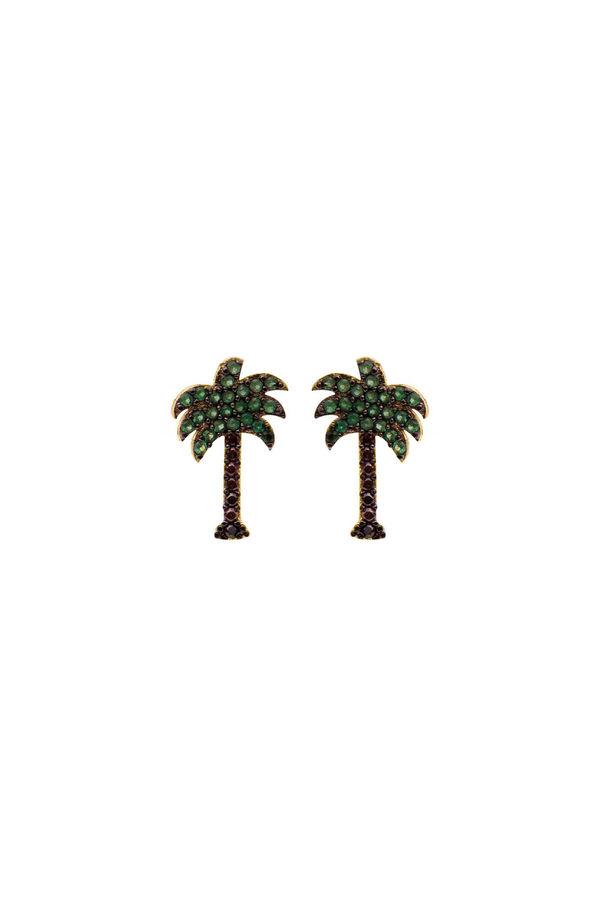 PHOENIX - CZ Palm Tree Studs