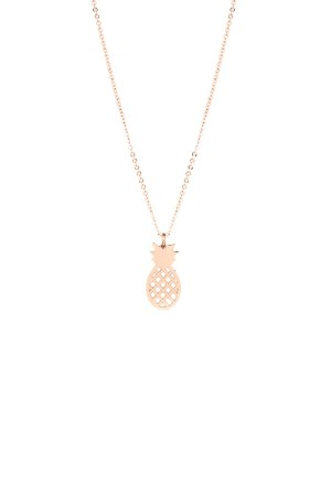 PLAYGROUND - PINEAPPLE ROSE - Pendant Necklace