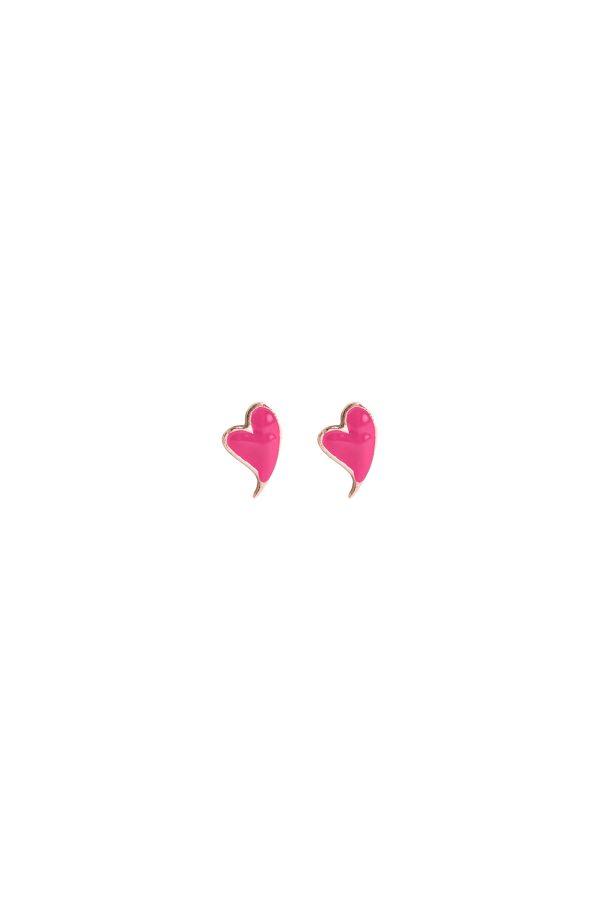 PINK HEARTBEAT - Pembe Mineli Küpe