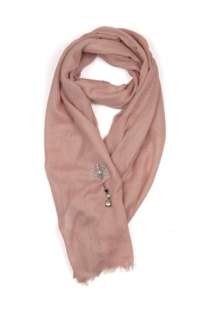 HAPPY SEASONS - PINK SNOW - Scarf with Broach