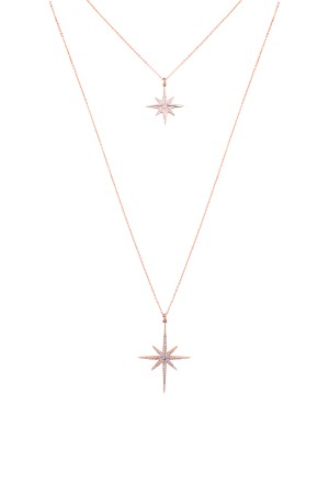 SHOW TIME - PINK STARS - Delicate Layered Necklace