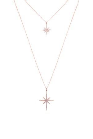 SHOW TIME - PINK STARS - İki Sıralı Kolye