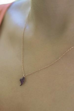 PINKY DIAMOND BEAT - Pembe Taşlı Kolye - Thumbnail
