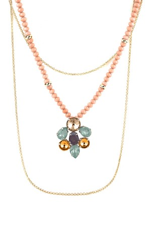 BAZAAR - PINKY SPRING - Layered Statement Necklace