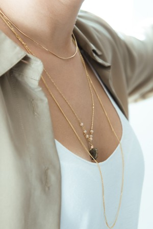 COMFORT ZONE - PINKY VOLCANO - Multilayered Necklace (1)