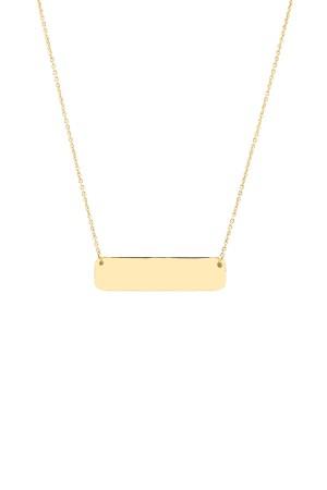 PETITE JEWELRY - PLATE - Horizontal Bar Necklace