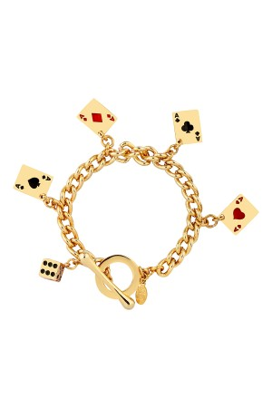SHOW TIME - POKER FACE - Charm Bracelet