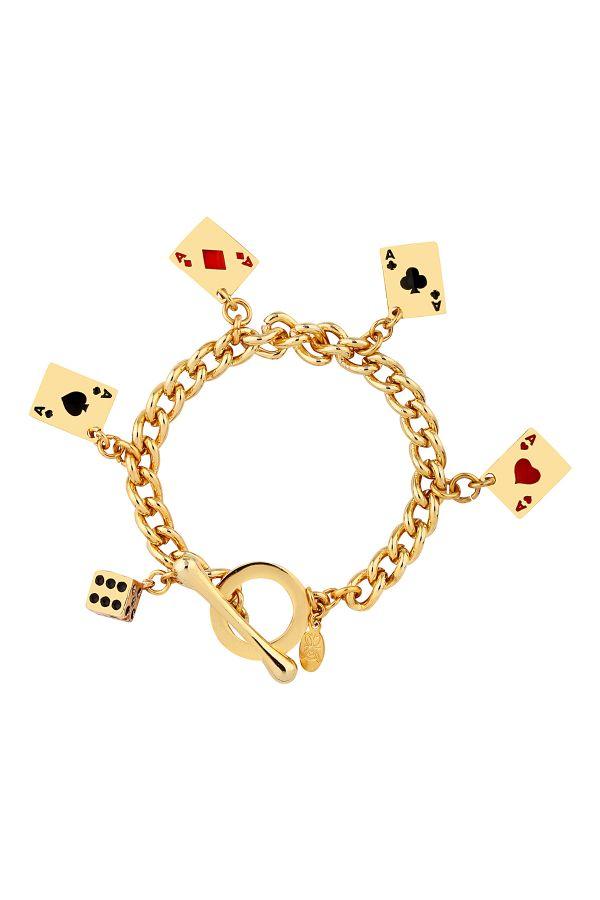 POKER FACE - Charm Bracelet