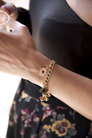 SHOW TIME - POKER FACE - Charm Bracelet (1)
