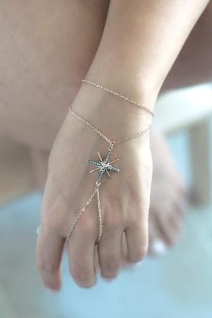 SHOW TIME - POLE STAR - Rose Gold Slave Bracelet (1)