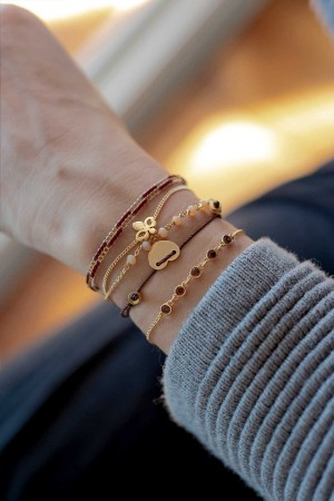 COMFORT ZONE - PRUNE - Dainty Brown CZ Bracelet