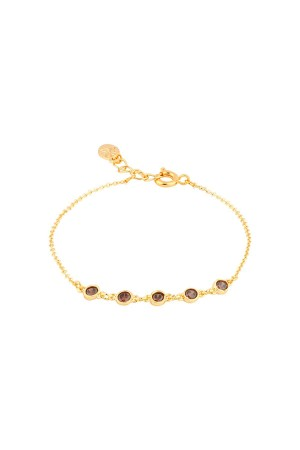COMFORT ZONE - PRUNE - Dainty Brown CZ Bracelet (1)
