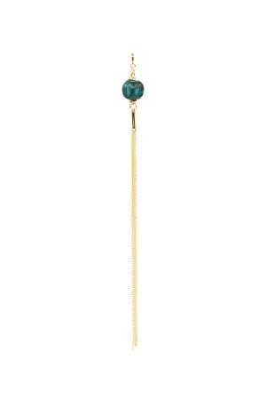 PETIT CHARM - PUMPKIN BLUE - Turkuaz Taşlı Püskül Charm
