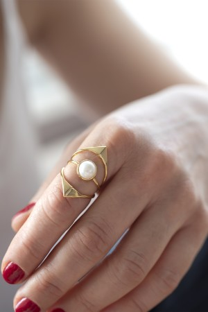 SHOW TIME - PURE - Pearl Ring (1)