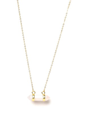 COMFORT ZONE - QUARTZ IN PINK - Dainty Necklace