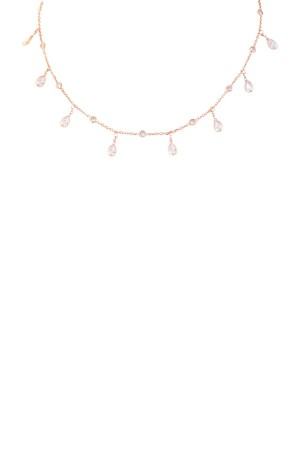 QUEEN - Dainty CZ Necklace - Thumbnail