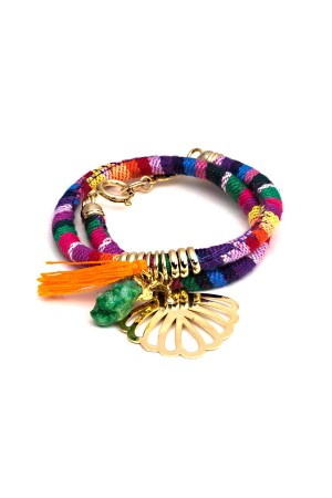 PLAYGROUND - RAINBOW - Multicolor Wrap Bracelet