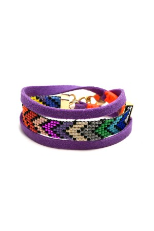 PLAYGROUND - RAINBOW - Peyote Stitch Wrap Bracelet