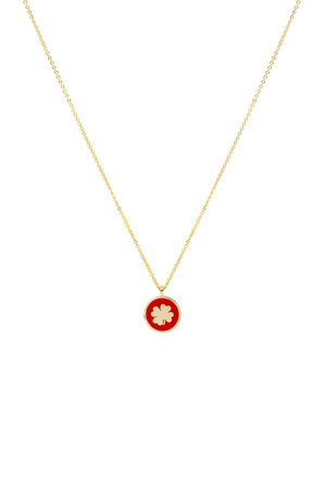 COMFORT ZONE - RED CLOVER - Luck Necklace