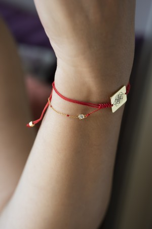 PLAYGROUND - RED DOT - Kırmızı Kabala Bileklik (1)
