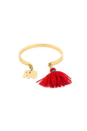 PLAYGROUND - RED ELEPHANT - Charm Cuff Bracelet