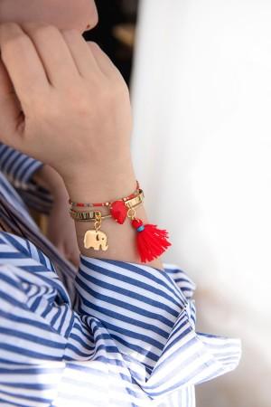 PLAYGROUND - RED ELEPHANT - Charm Cuff Bracelet (1)