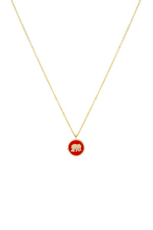 RED ELEPHANT - Luck Necklace - Thumbnail