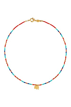 PLAYGROUND - RED ELEPHANT - Miyuki Beaded Necklace