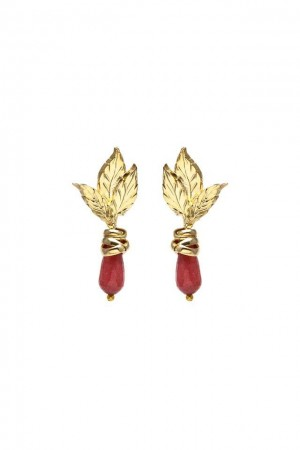 SHOW TIME - RED LEAVES - Drop Earrings