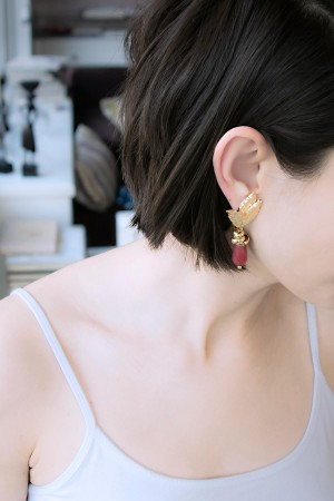 SHOW TIME - RED LEAVES - Drop Earrings (1)