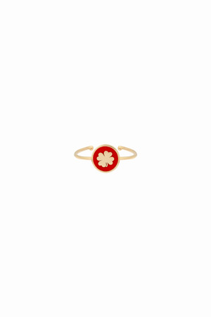 PLAYGROUND - RED SHAMROCK - Luck Ring (1)