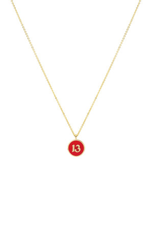 COMFORT ZONE - RED THIRTEEN - Pendant Necklace