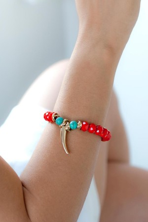BAZAAR - RED ZONE - Beaded Bracelet (1)