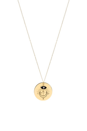 COMFORT ZONE - RISING MOON - Medallion Necklace
