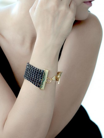 SHOW TIME - ROCK'N ROLL - Two Tone Statement Bracelet (1)