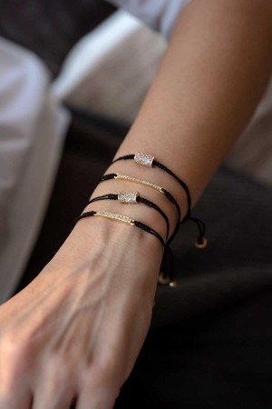 COMFORT ZONE - ROLL ME - CZ Adjustable Bracelet (1)
