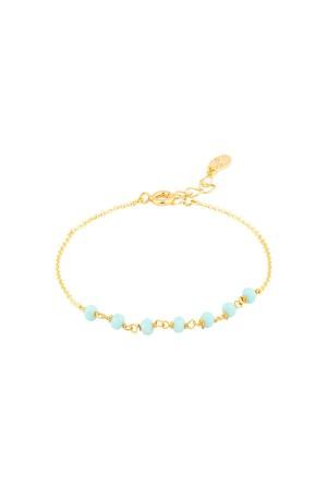 COMFORT ZONE - ROSARY BLUE - Crystal Beaded Bracelet