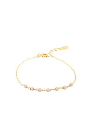 COMFORT ZONE - ROSARY LILA - Crystal Beaded Bracelet
