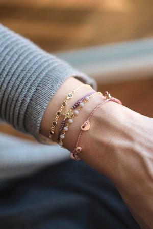 COMFORT ZONE - ROSARY LILA - Crystal Beaded Bracelet (1)
