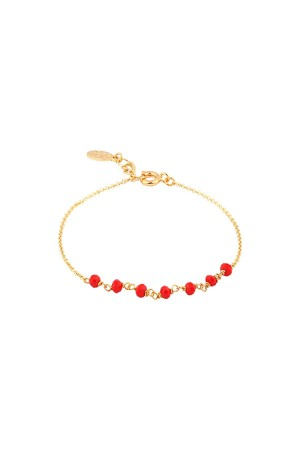 COMFORT ZONE - ROSARY RED - Crystal Beaded Bracelet