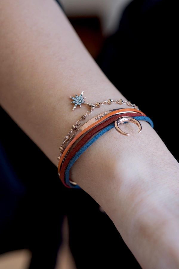 ROSE CRESCENT - Stackable Cuff Bracelet