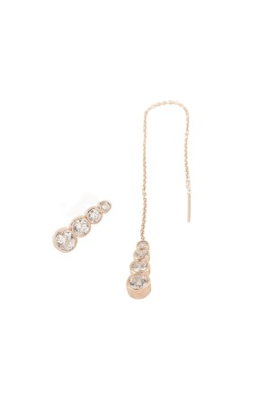 BAZAAR - ROSE DROP - Asymmetric Earring