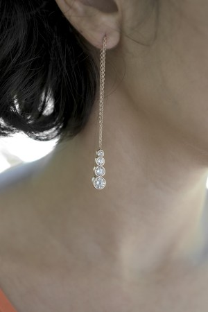 BAZAAR - ROSE DROP - Asymmetric Earring (1)