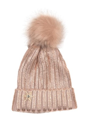 HAPPY SEASONS - ROSE SNOW - Metallic Wool Beanie